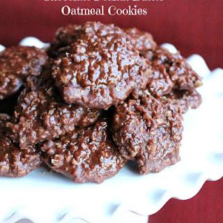 No Bake Chocolate Peanut Butter Oatmeal Cookies.