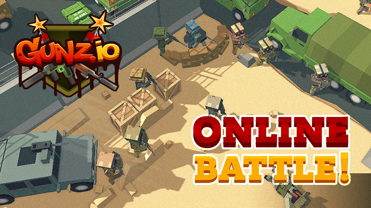 GUNZ.io Pixel Block 3D Multiplayer Pocket Arena- screenshot