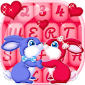 Stylish Keyboard Cute Couple icon