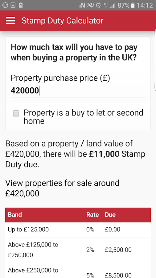 Acorn Property Search- screenshot
