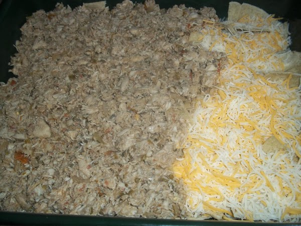 """Cut chicken breast into small 1-2"""" pieces (makes it easier to shred when done..."""