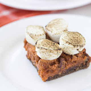 Pumpkin Pecan Pie Bars with Marshmallow Topping