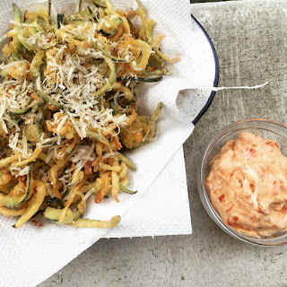 Courgette Fries With Garlic, Thyme And Parmesan.