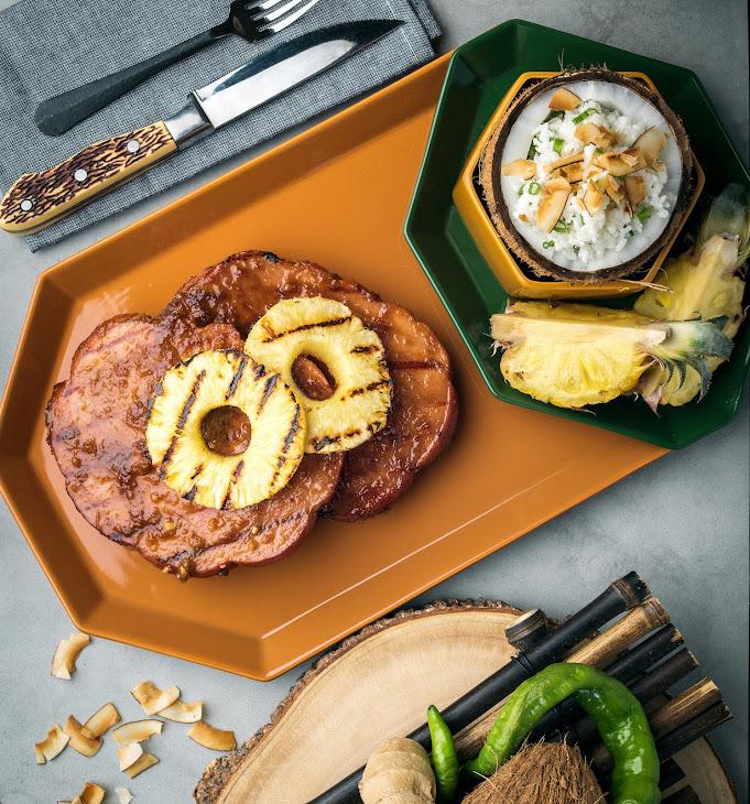 Grilled Ham Steaks with Spicy Teriyaki Recipe