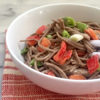 Asian Noodles with Not-So-Spicy Peanut Sauce.
