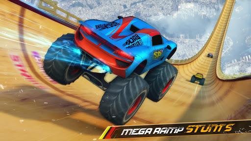 Monster Truck Mega Ramp - Extreme Stunts GT Racing  captures d'écran 1