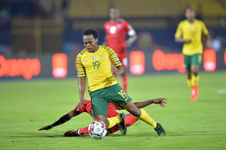 Bafana Bafana's Percy Tau during the Africa Cup of Nations match between South Africa and Namibia at Al-Salam Stadium in Cairo, Egypt, on June 28 2019.