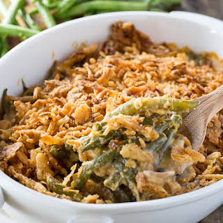 Cheesy Green Bean Casserole.