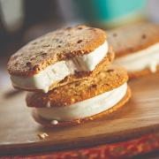 Coconut Bliss Vanilla Ice Cream Cookie Sandwich