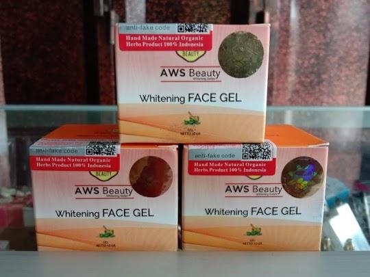 Whitening Face Gel AWS BEAUTY memutihkan glowing kulit wajah aman ibu hamil menyusui bumil busui