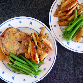 Pork Chop with Honey, Mustard and Apples