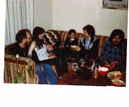 Photo: 1983 - a welcoming party for Alan Ballard at the Bodwin apartment on Plymouth Road in Ann Arbor, (l to r) Gavin Eadie, Monika Braun, Karin Braun, Christian Braun, Hans-Werner Braun, and Bob Husak.