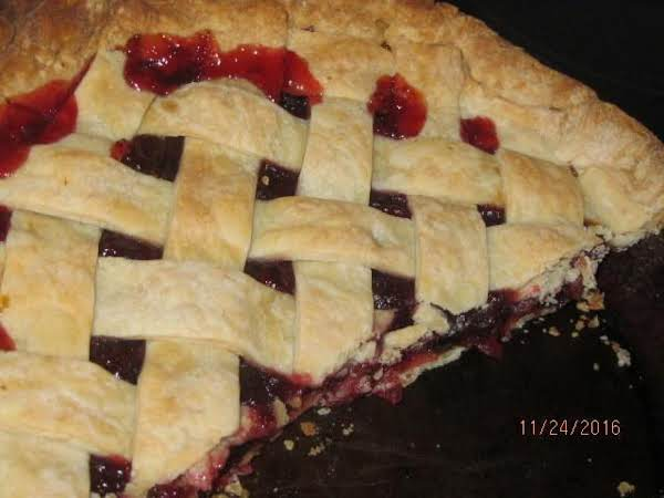 Mock Cherry Pie (cranberry & Raisin) Recipe