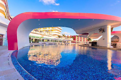 The sexy pool is the center of the action at Temptation Cancun Resort.