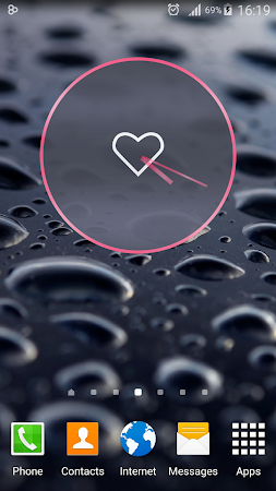 Pink Love Clock Widget 5.5.1 screenshot 1568941