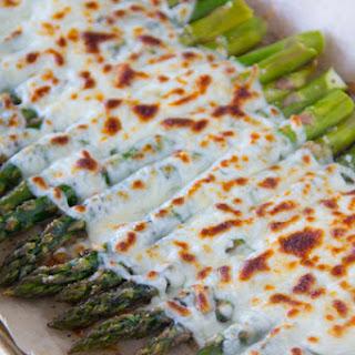 Garlicky and Cheesy Asparagus.