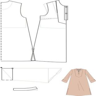 Complete Dress Pattern - náhled