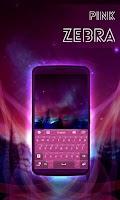 Screenshot of Pink Zebra GO Keyboard