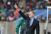 Stuart Baxter during the International friendly match between South Africa and Zambia at Moruleng Stadium on June 13, 2017.