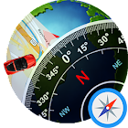 GPS Front View Map: Live Compass Polar Navigation icon