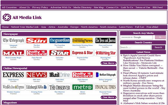 United Kingdom's All Newspapers Online