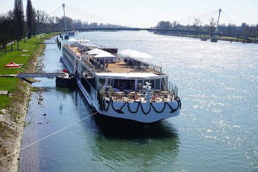einar-docked.jpg - Shot of Viking Einar docked near Strasbourg, France, on the Rhine River.