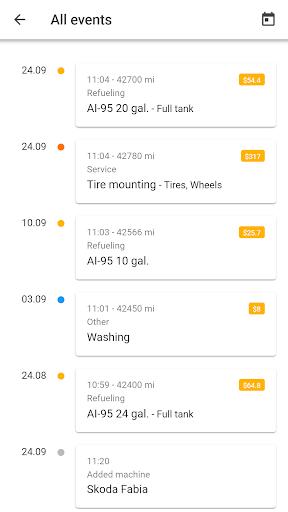 MyCar - Expenses 0.8.5 screenshots 3