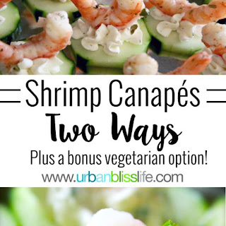 Shrimp and Cucumber Coin Canapés Two Ways!