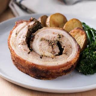 Crispy Pork Belly Porchetta.