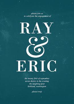 Ray & Eric Engagement - Wedding Announcement item