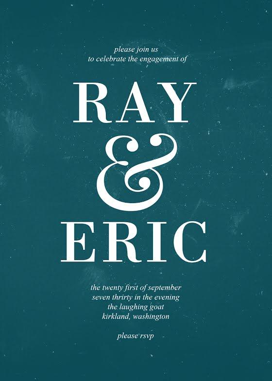 Ray & Eric Engagement - Wedding Invitation Template