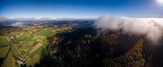 Photo: #Herbst im #Sauerland rund um die #Nordhelle bei #Lüdenscheid  - #Autumn in the west German Sauerland arround the Nordhelle #peak near Luedenscheid - #aerial #aerialphotography #panorama #panoramaphotography #phantom #clouds #wolken  #herscheid