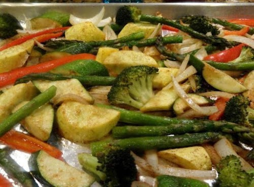 """Oven Roasted Vegetables """"The spice combination in this dish made it beyond..."""