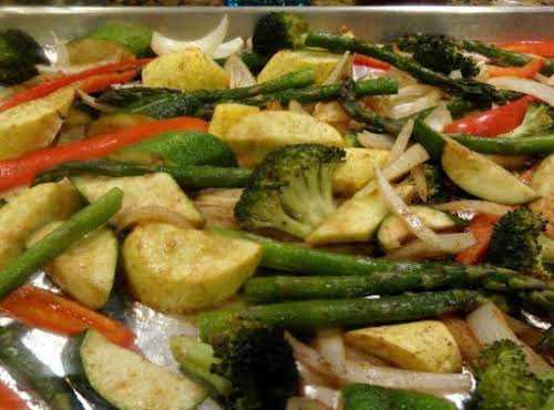 "Oven Roasted Vegetables ""The spice combination in this dish made it beyond..."