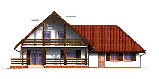 Dom przy Grabowej - Elewacja tylna
