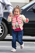 Photo: Emme Lopez, one of Jennifer Lopez's adorable twins, romps around in a Hello Kitty tee!  Credit: AKM Images / GSI Media