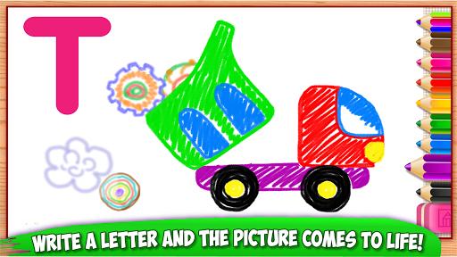 ABC DRAW ud83cudfa8 Kids Drawing! Alphabet Games Preschool  screenshots 5