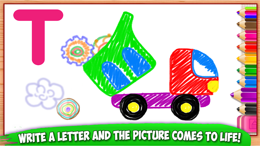 ABC DRAW! Alphabet games Preschool! Kids DRAWING 2 Screenshot