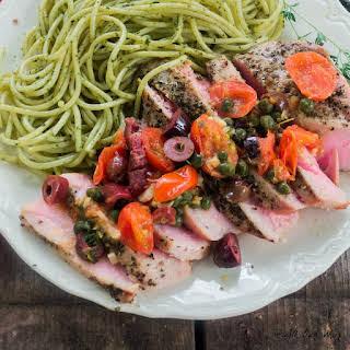 Southern Italian Grilled Tuna Steaks.