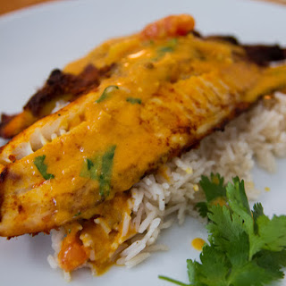 Omega 3 Roasted Tilapia with Tomato Curry Sauce