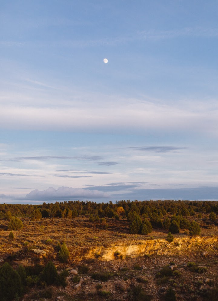 Arizona landscape with moon