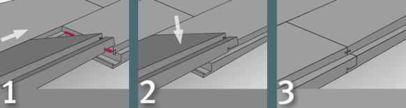 I tre enkle trin har du lagt dit CELENIO-gulv.
