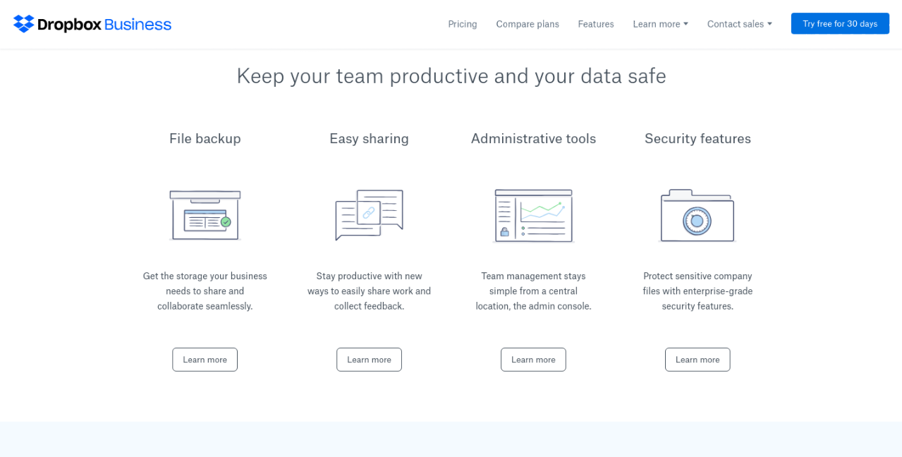 dropbox file management storage tool
