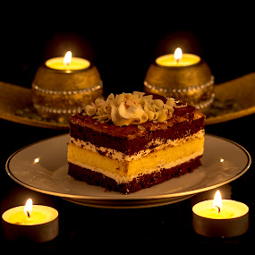 cakes with candles by Paul Ortega - Food & Drink Plated Food