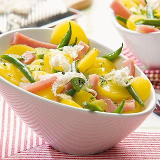 Kartoffel-Bohnen-Salat mit frischem Meerrettich