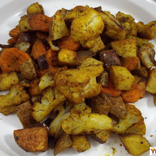 Curry Roasted Vegetables.