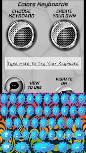Barevných klávesnic - náhled