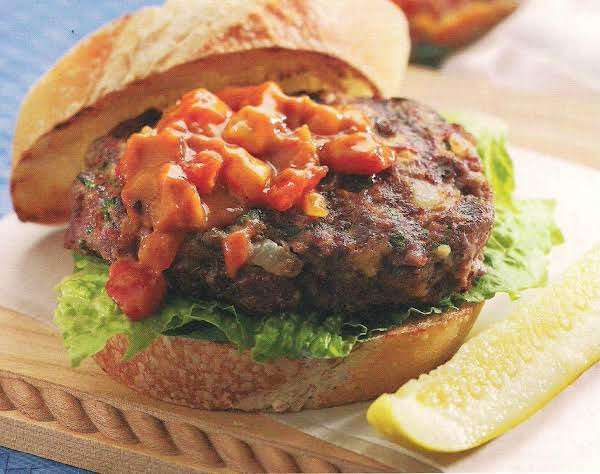 Meatloaf Burger With Tomato Bacon Relish