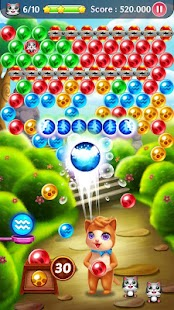 Best bubble shooter: Cat magic - náhled