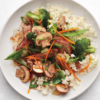 Ginger-Pork Stir-Fry With Cauliflower Rice